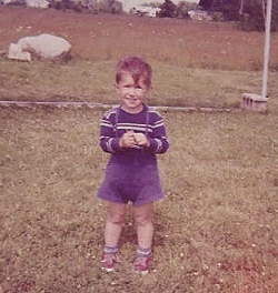 Me as a young boy in my endless backyard.